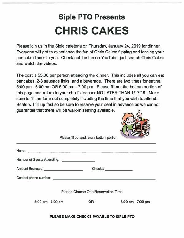 PTO Fundraiser with Chris Cakes